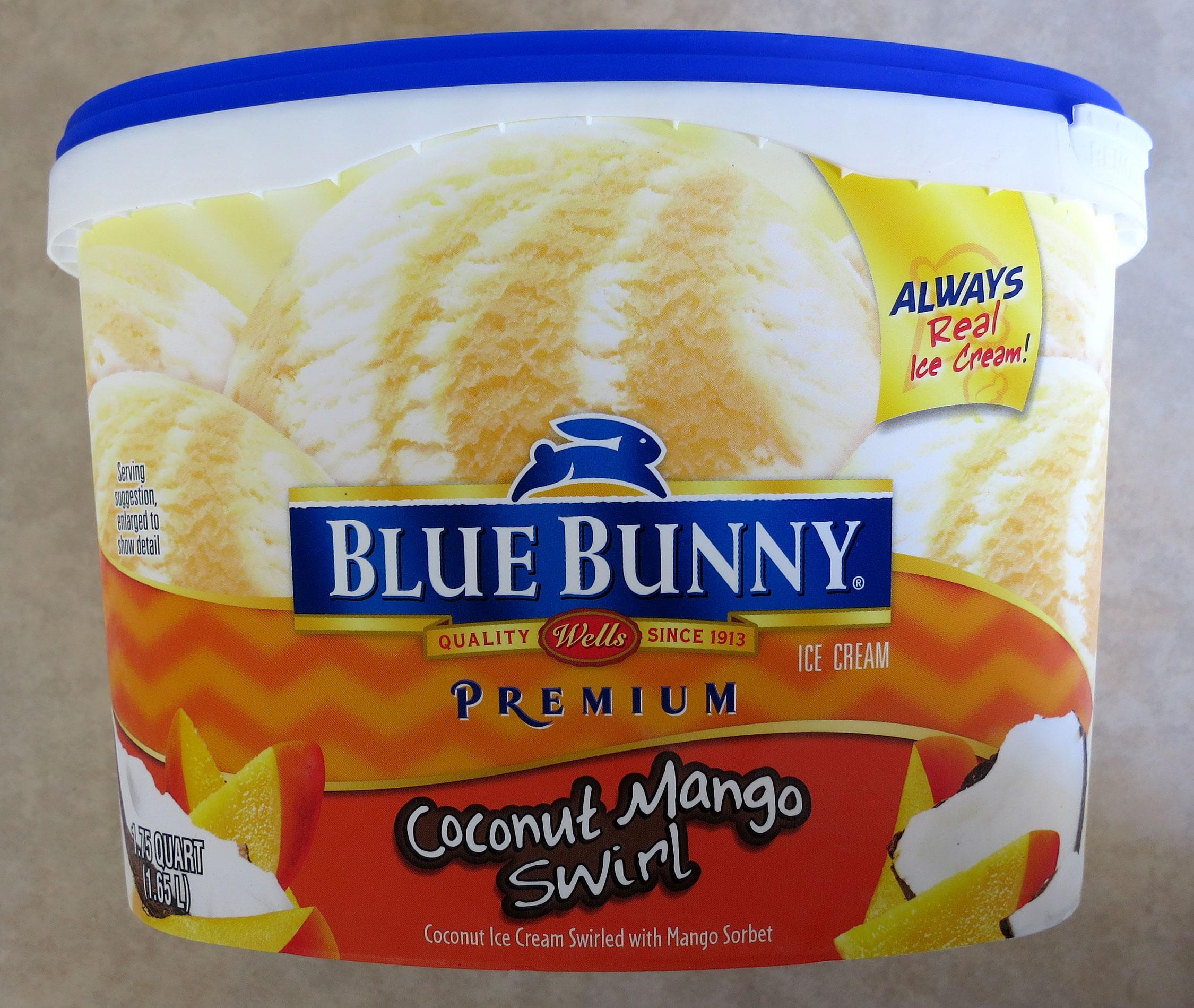 Coconut Mango: Review: Blue Bunny Coconut Mango Swirl