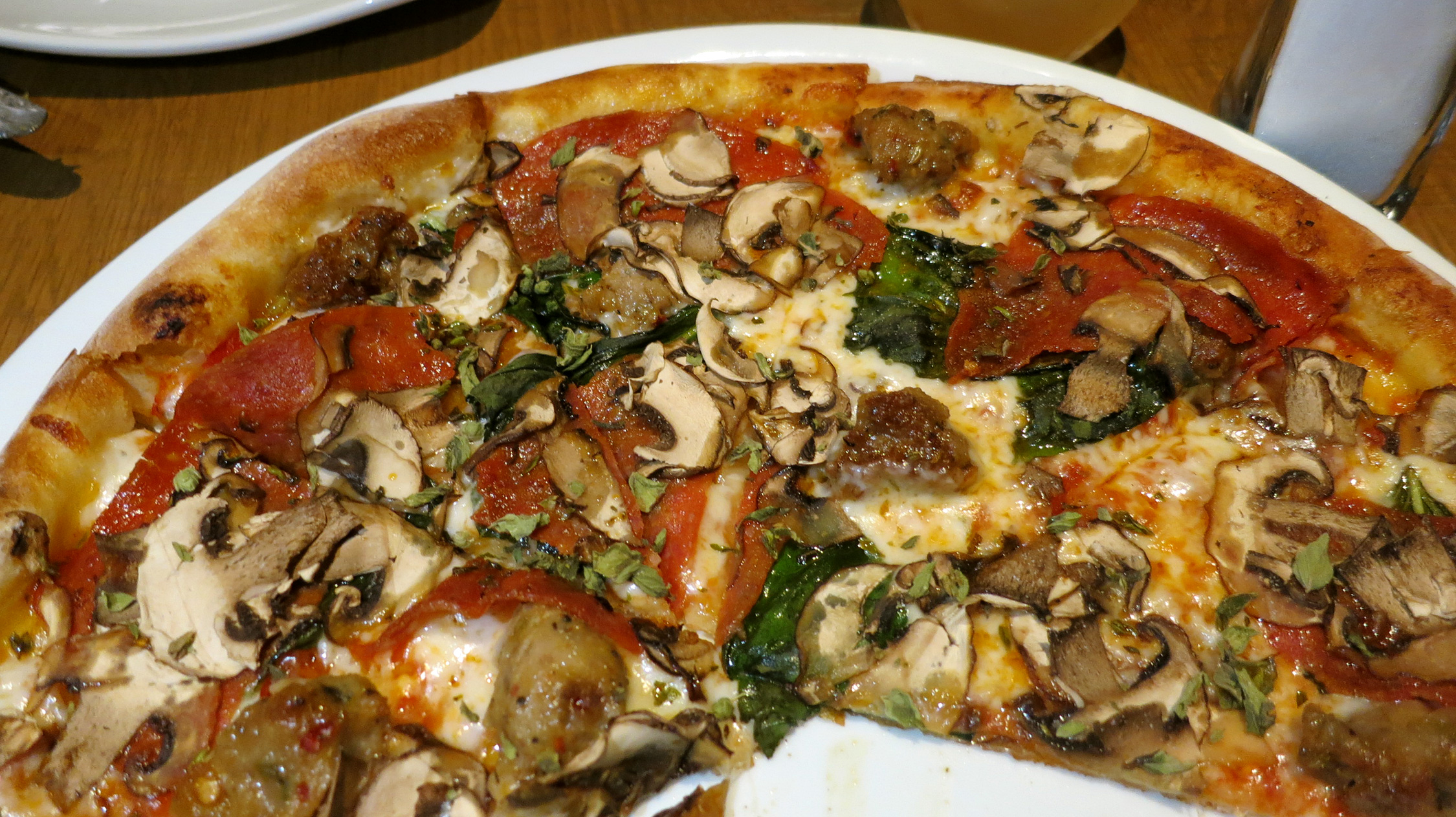 California Pizza Kitchen Hand Tossed Wild Mushroom Pizza