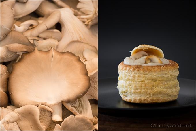 Paddenstoelen in de ragout en paddenstoelen in de badkamer