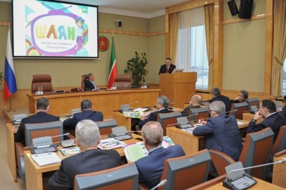 Рустам Минниханов ознакомился с проектом детского канала на татарском языке