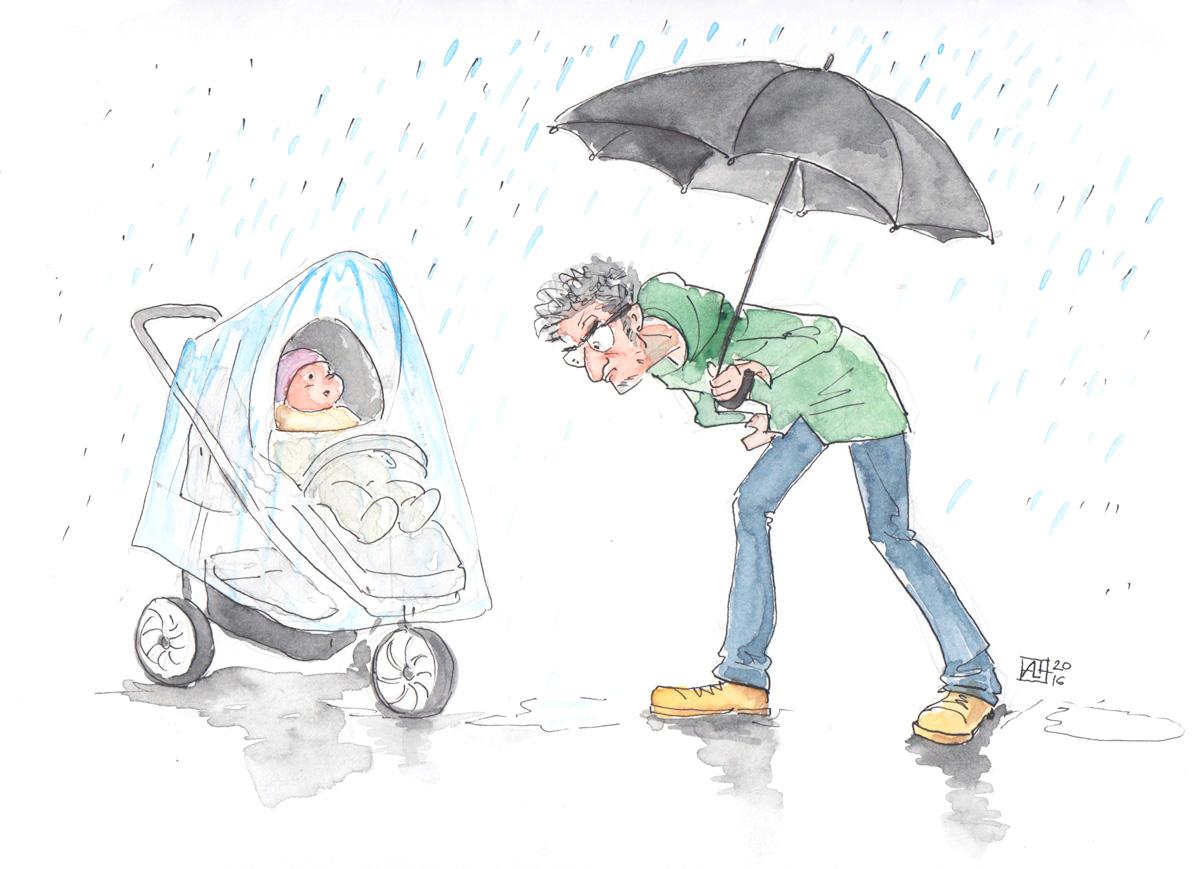 O symbolice spaceru z dzieckiem w wózku