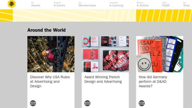 D&AD website's news section
