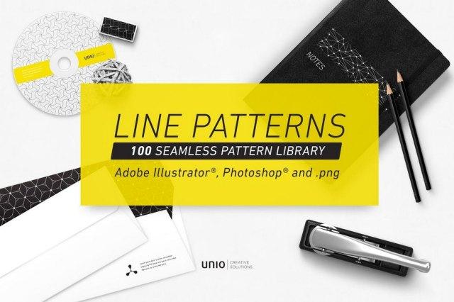 100 Seamless Line Patterns