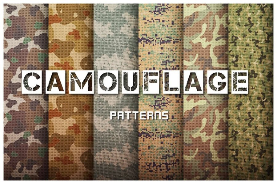 Camouflage Patterns Set
