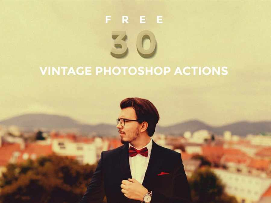 30 Free Vintage Photoshop Actions