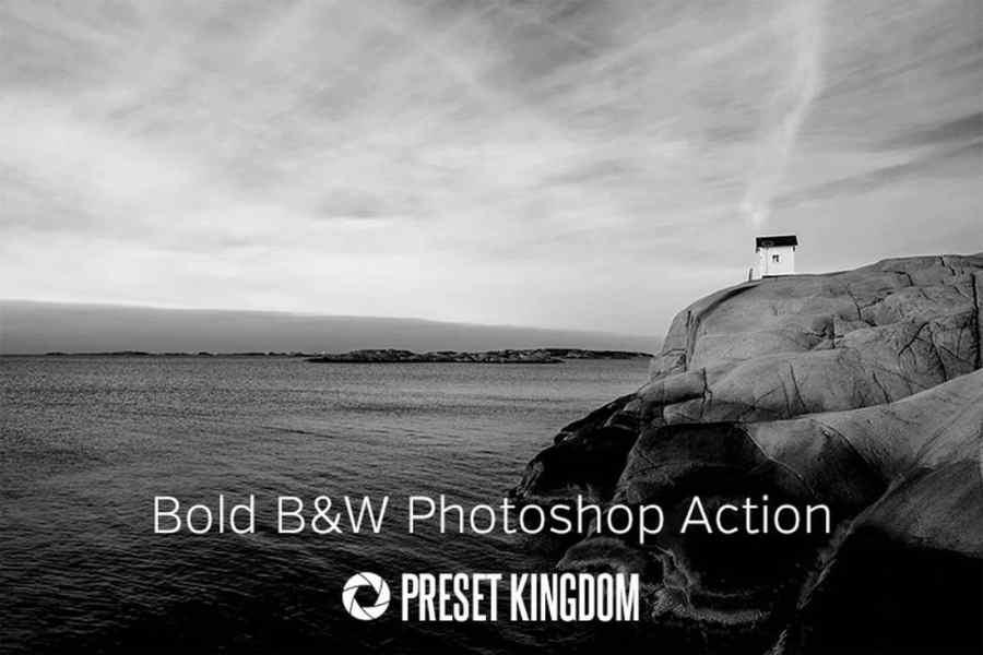 Free Bold Black & White Photoshop Action