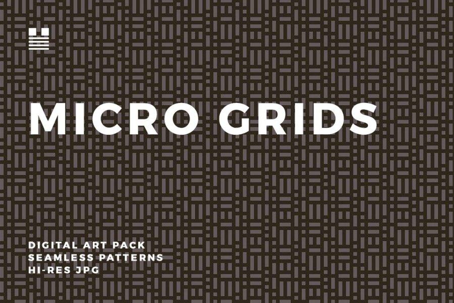 Micro Grids Seamless Pattern
