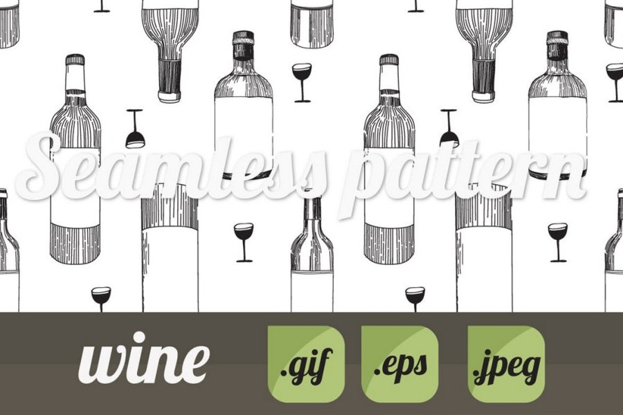 Wine Photoshop Pattern