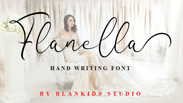 Flanella script font