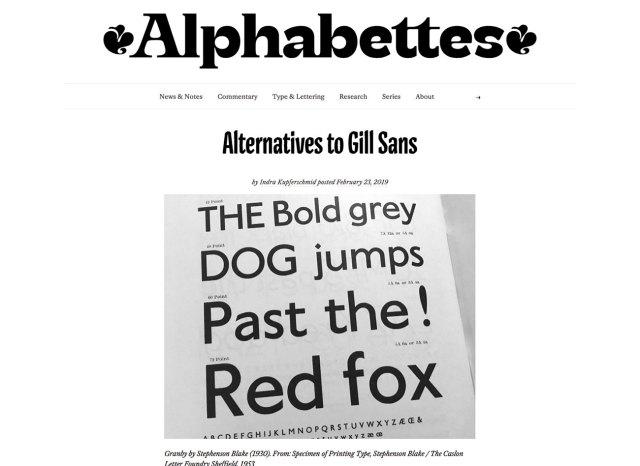 Top typography resources: Alphabettes