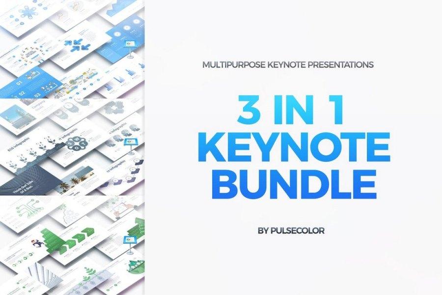3-In-1 Multipurpose Animated Keynote Templates Bundle