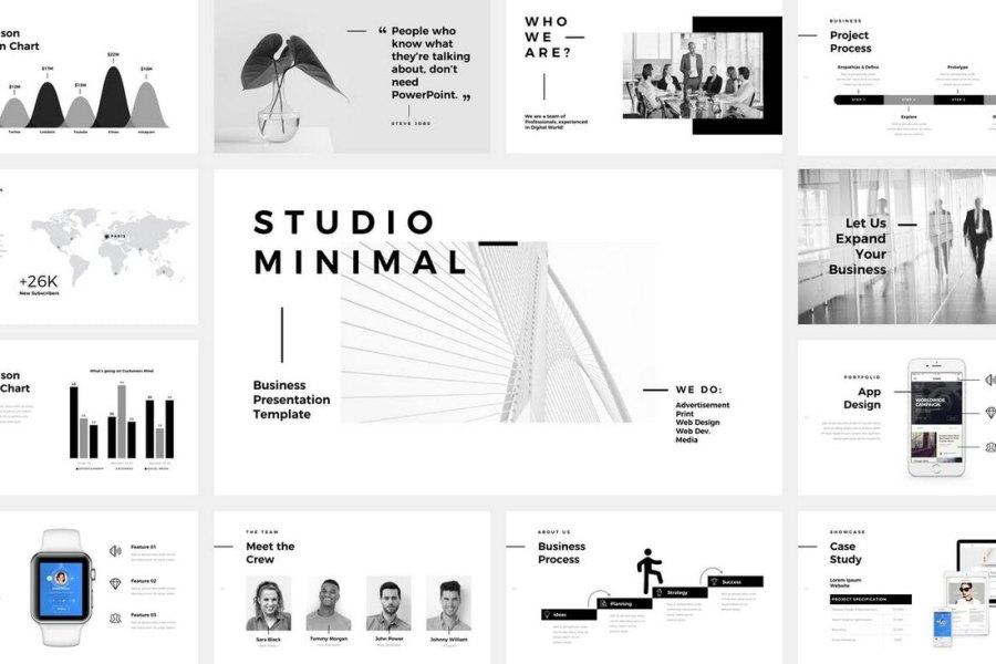 Studio Minimal - Animated Keynote Template