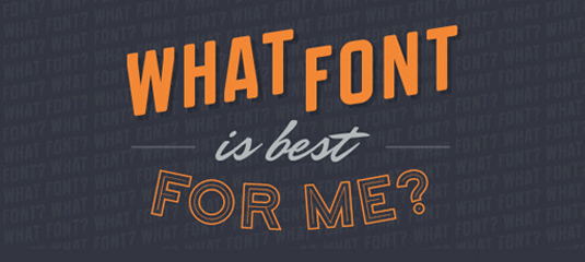 The best infographics: Which font