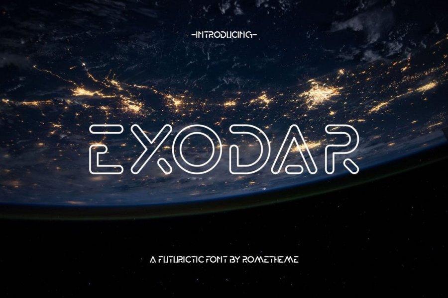 Exodar - Futuristic Space Font