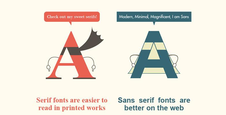 The best infographics: Serif vs sans