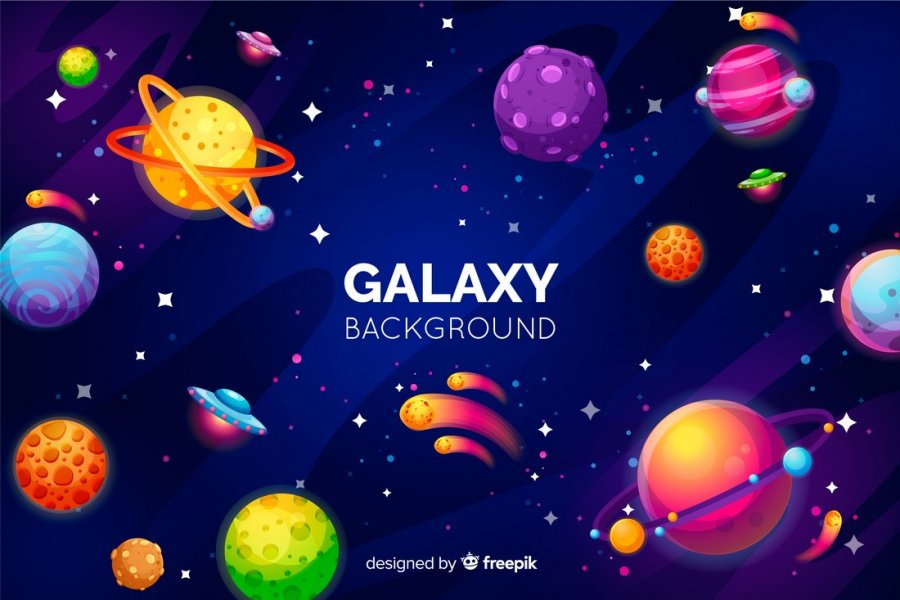 Free Colorful Space Galaxy Background