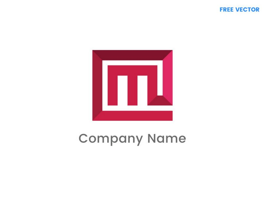 Free M Letter Logo Template