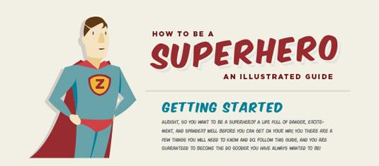 The best infographics: Superhero