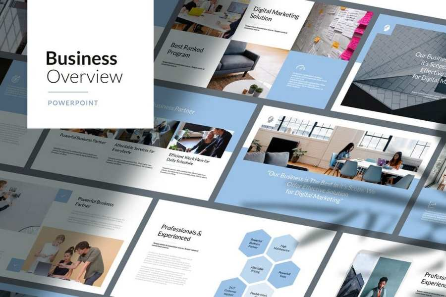 Business Overview - Corporate Powerpoint Template
