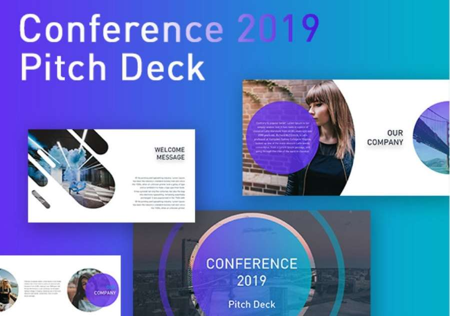 Conference - Free Pitch Deck PowerPoint Template