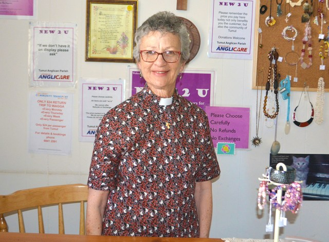 Reverend Liz Sloane is the brains behind a new community pantry for Tumut.