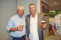 Bulldogs and Panthers legend Chris Mortimer with Tumut's Mark Symons at last week's league reunion.