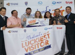 Thailand welcomed 16 millionth tourist as Thailand's Luckiest Visitor