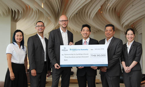 Hilton Pattaya supported Habitat for Humanity Thailand