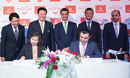 Emirates Airlines and Tourism Authority of Thailand sign new agreement to boost tourism to Thailand