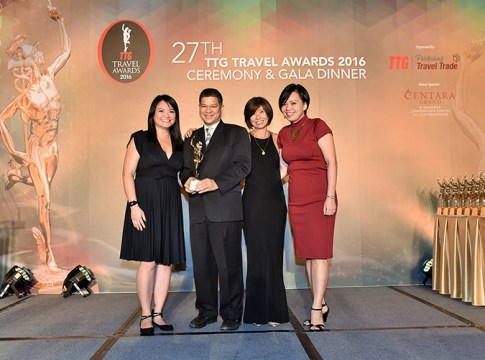 Thailand wins TTG Travel Awards Destination of the Year 2016