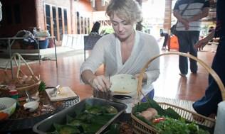 Cooking class of Khai Pam at Baan Rai Kong Khing