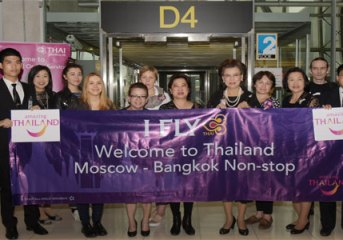 THAI welcomes passengers from first Moscow flight