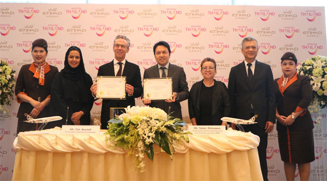 TAT and Etihad sign landmark million tourism agreement