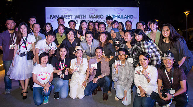 TAT holds first Fan Meeting with Mario Maurer in Thailand