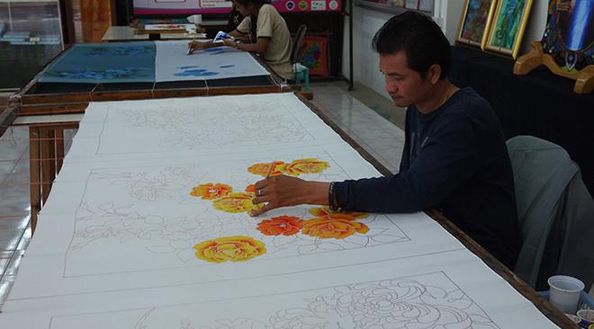 Artwork at Sala Phra Ming Khwan
