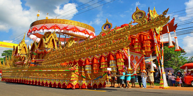 Spectacular Bung Fai Skyrocket Festival takes place this week in Kalasin. Thailand Festivals Bung Fai Skyrocket Festival