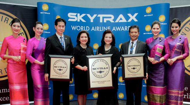 Thai Airways wins three first place Skytrax Awards 2017