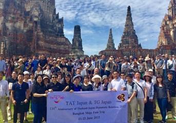 Thailand Mega Fam Trip marks 130 years of Thai-Japanese relations