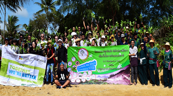 JW Marriot Phuket Resort and Spa celebrates Mother's Day with cabbage planting