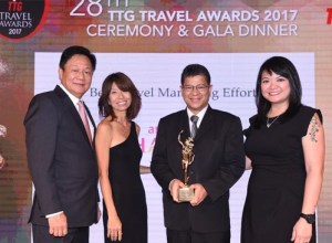TAT wins TTG Travel Awards 2017 for Best Travel Marketing Effort