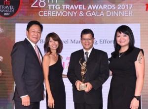 TAT wins TTG Travel Awards 2017 for Best Travel Marketing Effort