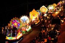 Counting stars at Sakon Nakhon Christmas parade 2017