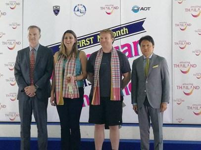 Nathaniel Alexander Way, 1 millionth American tourist to Thailand 2017