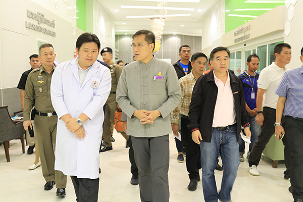 Thai Tourism Minister paid visits to injured tourists and crew of the speedboat incident in Krabi