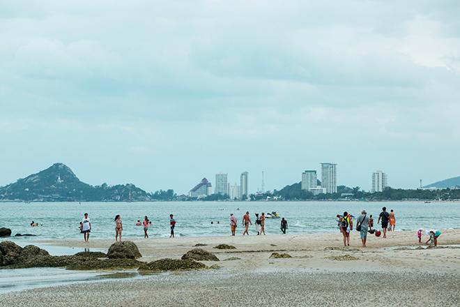 Hua Hin Beach - swim safely