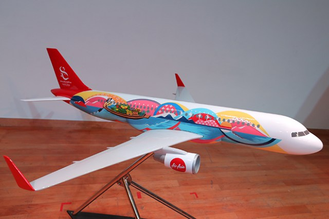 TAT and Thai Air Asia - Shades of the River airplane painting