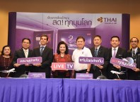 THAI launches LIVE TV on board