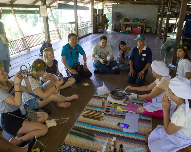 Visitors are invited to learn how to make mangosteen soap at Ban Huai Raeng Community, Trat