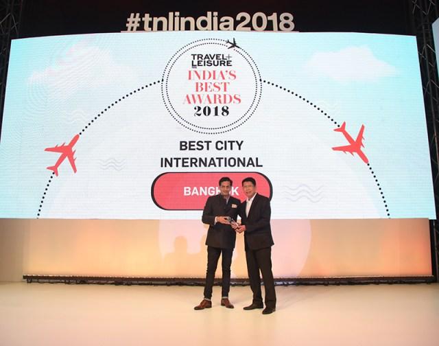 Bangkok awarded Best City International Category by Travel Leisure India's Best Awards 2018