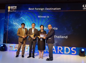 Thailand wins Best Foreign Destination 2019 at SATTE Awards in New Delhi